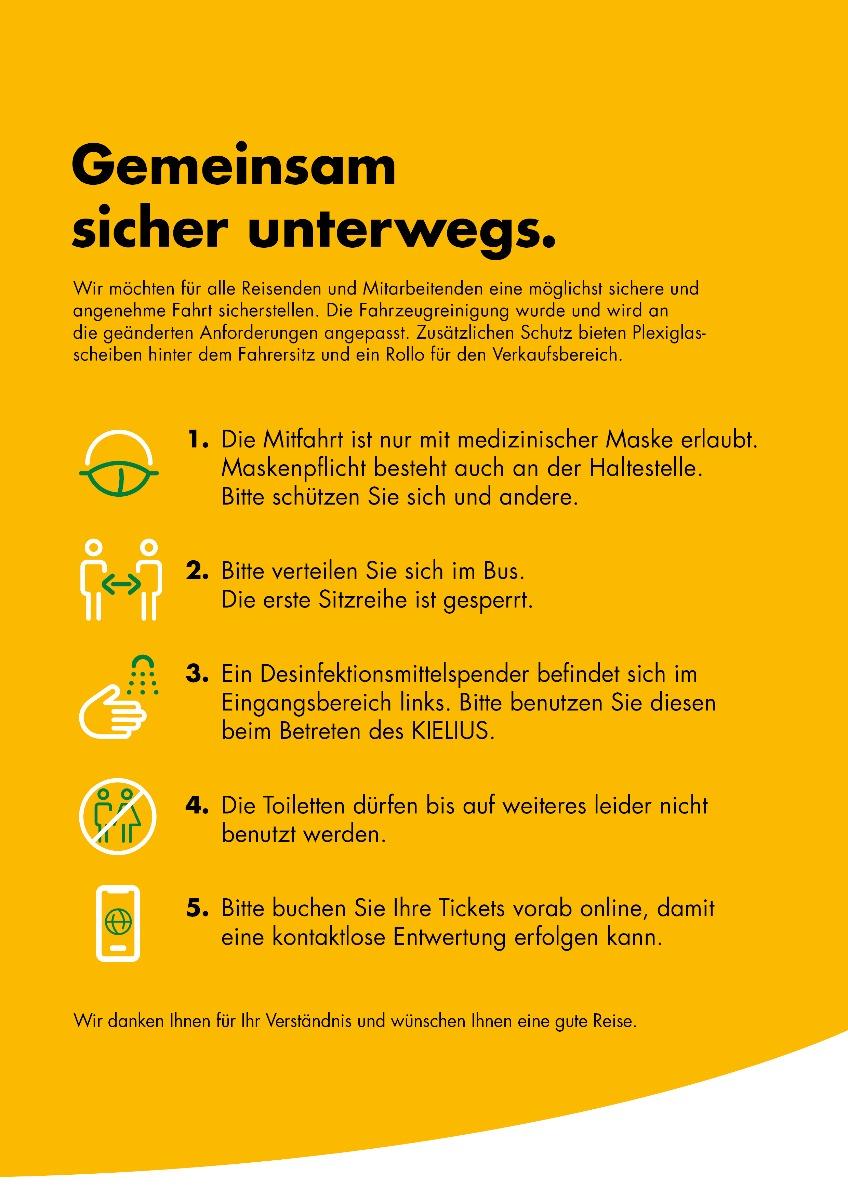 Hygieneregeln für den KIELIUS